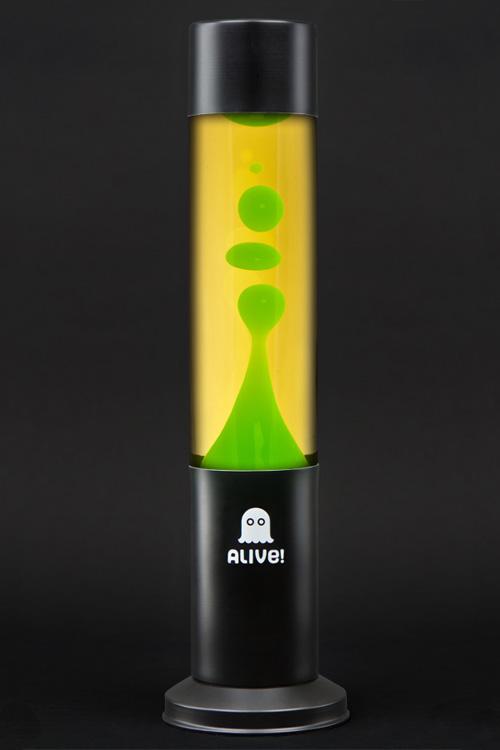 Лава лампа Труба (черная) Желтый/Зеленый