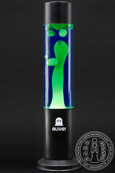Лава лампа «Труба» (черная) Синий/Зеленый