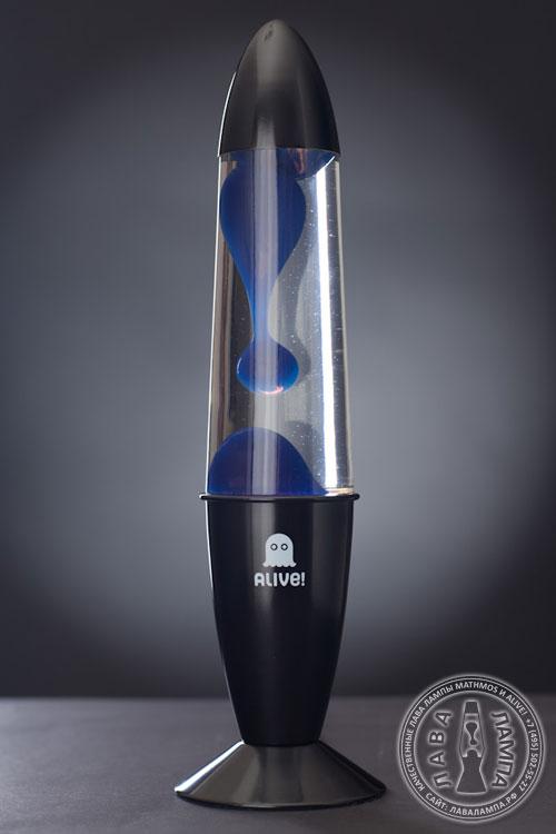 Лава лампа Гигант (черная) Прозрачный/Синий