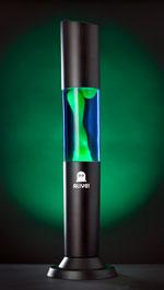 Лава лампа «Колосс» (черная) Синий/Зеленый
