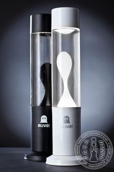 Лава лампа Труба (белая) Прозрачный/Белый