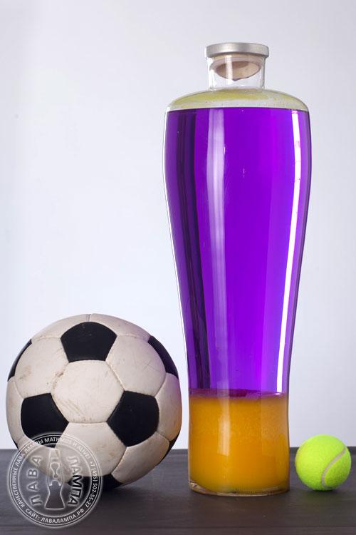 Лава лампа «Уно» (черная) Фиолетовый/Желтый